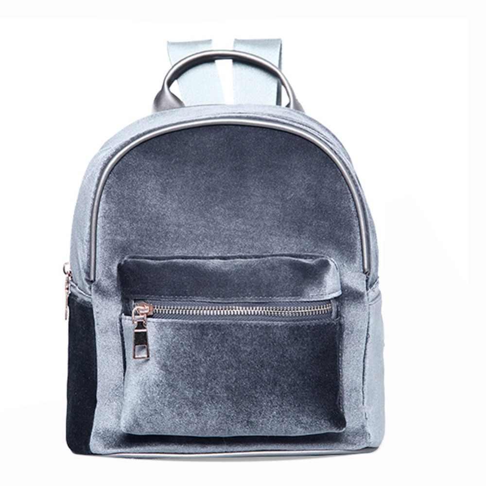 3450ef449862 Модные Простые Дизайнерские Рюкзак мягкий вельветовый рюкзак для женщин  небольшой путешествия рюкзаки школьные ранцы для подростка