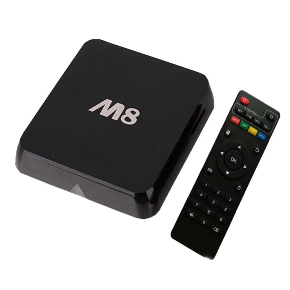 Android TV Box 2 GB/8 GB M8 4 K H.265 WiFi + IPTV Árabe de Europa 1150 + Canales