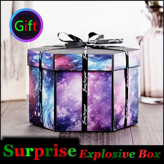 surprise explosion box diy photos album manual craft lovers romantic