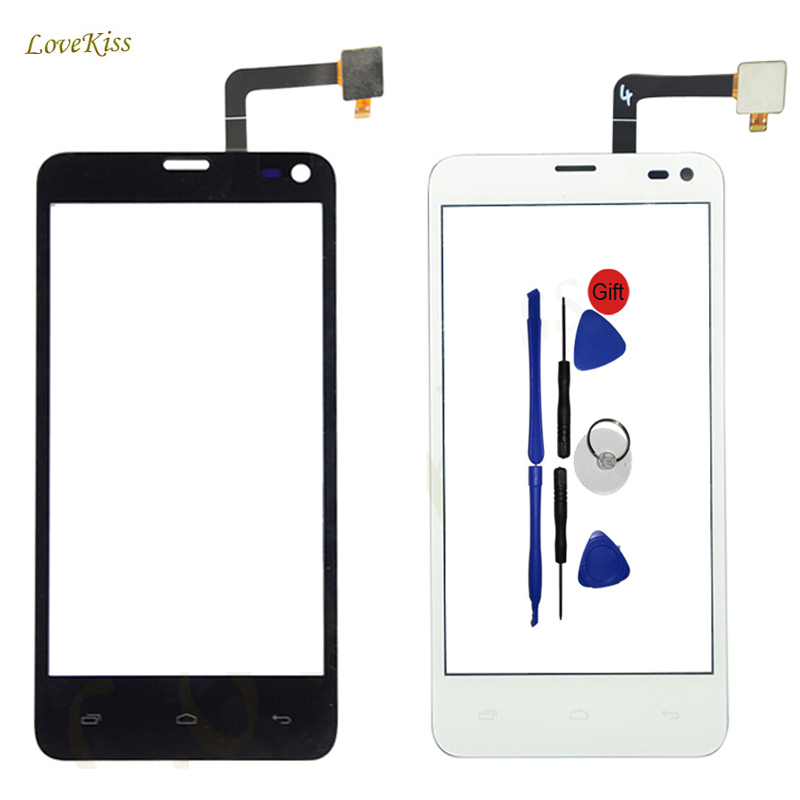 IQ4416 Touch Screen Panel Digitizer Replacement For Fly IQ4416 IQ 4416 Era Life 5 Touchscreen Sensor Front Outer Glass + Tools
