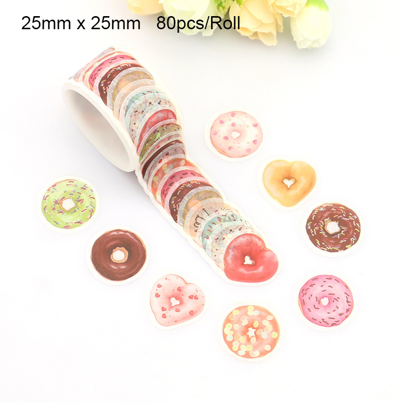 Flower, Cat Washi Tape DIY Decorative Scrapbooking Masking Tape Adhesive Label Sticker Tape Stationery 80pcs, 100pcs