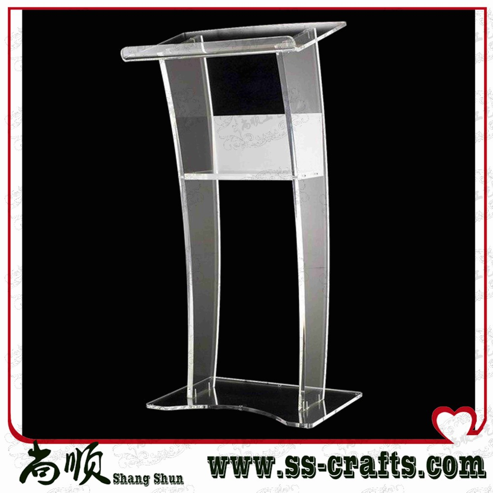 Modern style clear acrylic lectern podium for church or meeting room church pastor the church podium lectern podium desk lectern podium christian acrylic welcome desk front desk