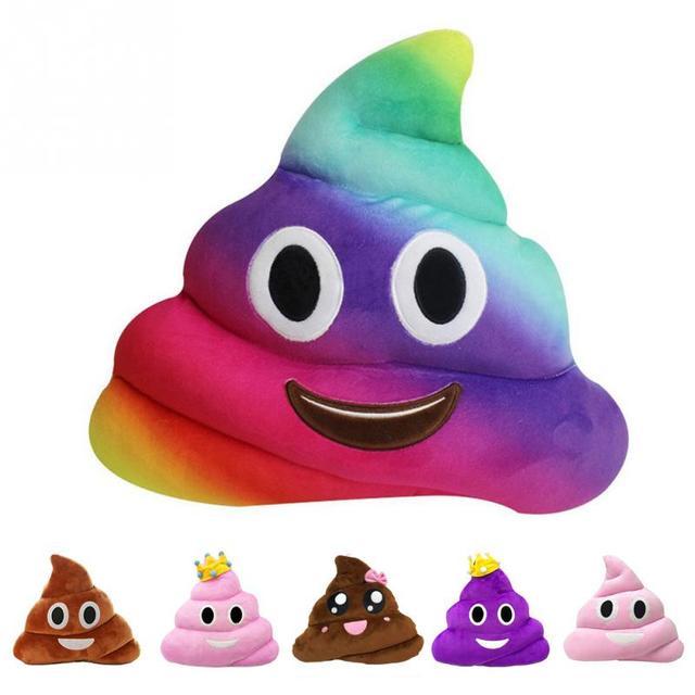 kawaii nette emoji smiley kissen kissen ausgestopften plusch spielzeug puppe poop gesicht smiley poop kissen hause