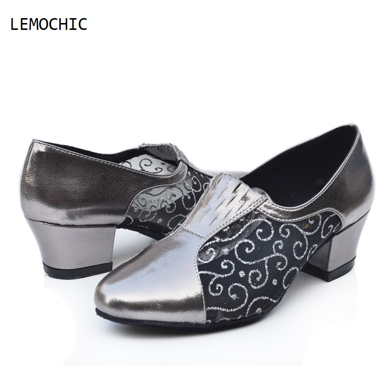 LEMOCHIC  modest professional cha cha latin tango ballroom rumba samba salsa flamenco low heels pointe  dancing shoes best sale latin ballroom dancer vol 2 how to learn reggaeton