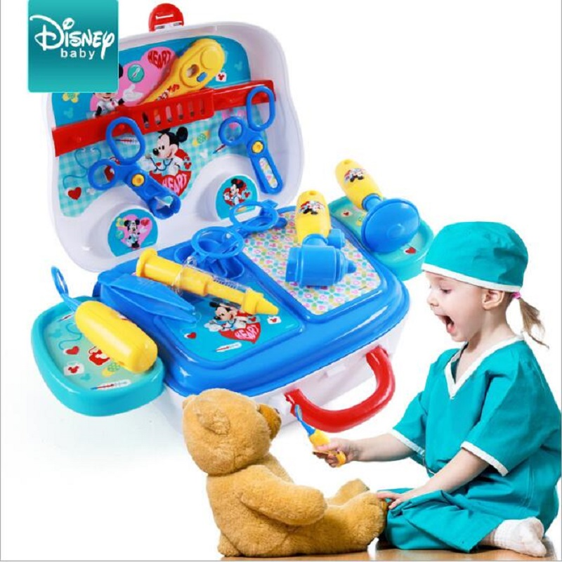 Disney Parent-child interaction Childrens House Doctor Injection Kit Kid Puzzle Suit Hands-on training Toys
