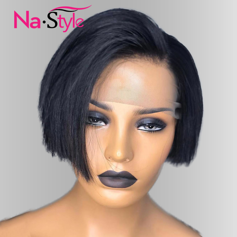 Pixie Cut Bob Wigs Pre Plucked Lace Wig Short Bob Human Hair Wigs For Women Lace