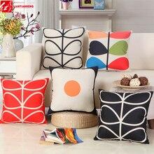 Абстрактные растительные Цветочные подушки с принтом 18×18 дюймов 45455 см домашний декоративный диван-кровать в машине задняя талия Cusion офисное кресло подушка