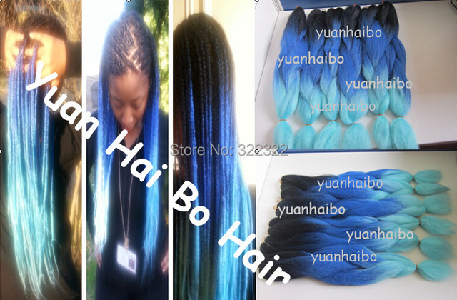 Factory cheap price ombre blue color kanekalon synthetic jumbo factory cheap price ombre blue color kanekalon synthetic jumbo braid hair extensions free shipping pmusecretfo Image collections