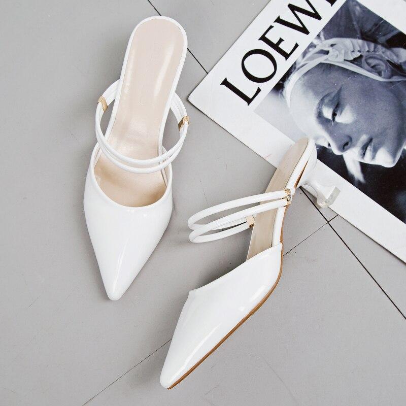 Mujeres en punta del dedo del pie mulas de lujo tacones Slingback - Zapatos de mujer - foto 2