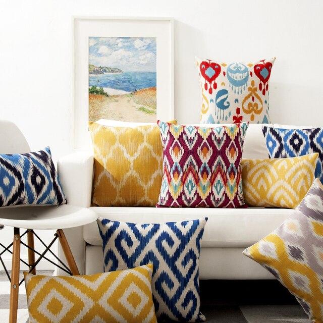 Cuscini decorativi coprono caso geometrica oro cuscino Ica modello cotone lino c