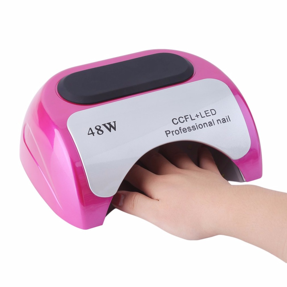 48W Auto-induction Sensor Nail Quick Dryer LED Lamp Gel Curing Ultraviolet Light Timer Nail Care Artifact Phototherapy Machine