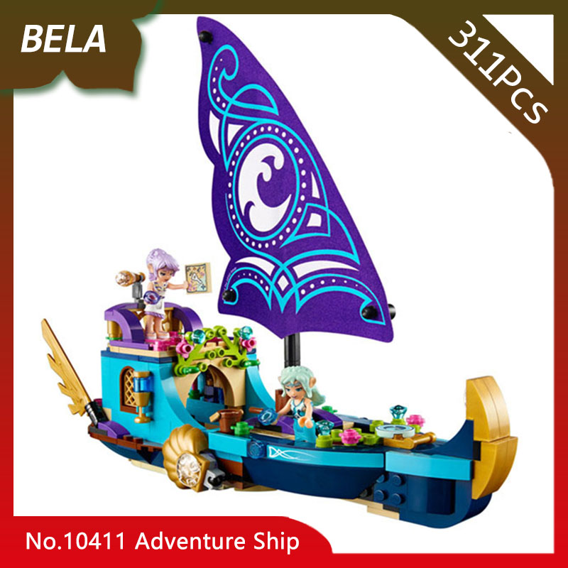 Bela 10411 311pcs Friends Series The Naida Epic Adventure Ship Model Building Blocks Toys For Kid Birthday Gift Compatible 41073