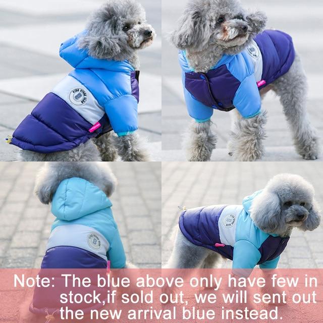 Warm Down Jacket Waterproof Coat for Dogs