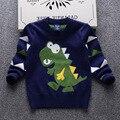 Tamaño grande boy marca de moda de lujo suéter de algodón color mezclado suéter ocasional de los niños grandes niños transpirable nueva lana fina suéter