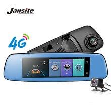 Jansite 4G WIFI Car DVR 7.84 pollici di Tocco di GPS ADAS Videocamera per auto A Distanza Monitor dello specchio di retrovisione Android 5.1 Dual lens 1080 P dash cam
