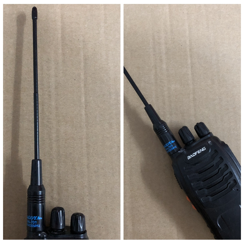 2019 NA 701 walkie talkie antenna dual band Nagoya NA 701 Dual Band SMA M Male Antenna for Yaesu Vertex VX 3R VX 7R VX 8DR UV 3R-in Walkie Talkie from Cellphones & Telecommunications