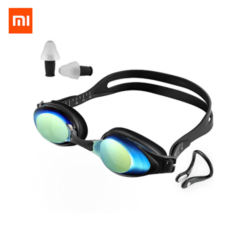 Original Xiaomi Mijia Yunmai Swimming Goggles Set HD Anti-fog Nose Stump Earplugs Silicone Swimming Glass Youpin