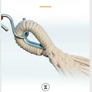 Image 4 - أرجوحة في الهواء الطلق للكبار/الأطفال مفرد/مزدوج مضاد للانقلاب قماش أرجوحة طالب كرسي معلق colgante hangmat