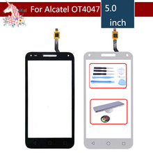 5.0 For Alcatel One Touch U5 3G 4047D 4047G 4047 OT4047 OT4047D Touch Screen Digitizer Sensor Outer Glass Lens Panel new touch screen for 7 supra m72kg prestigio multipad wize 3047 3037 3g 3038 touch panel digitizer glass sensor free ship