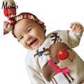 MAKA Kids BabyGirls Sweater Children's Clothing 2016 Winter Knitting Christmas Cartoon Deer Cartoon Child Baby Boy Girls Sweater
