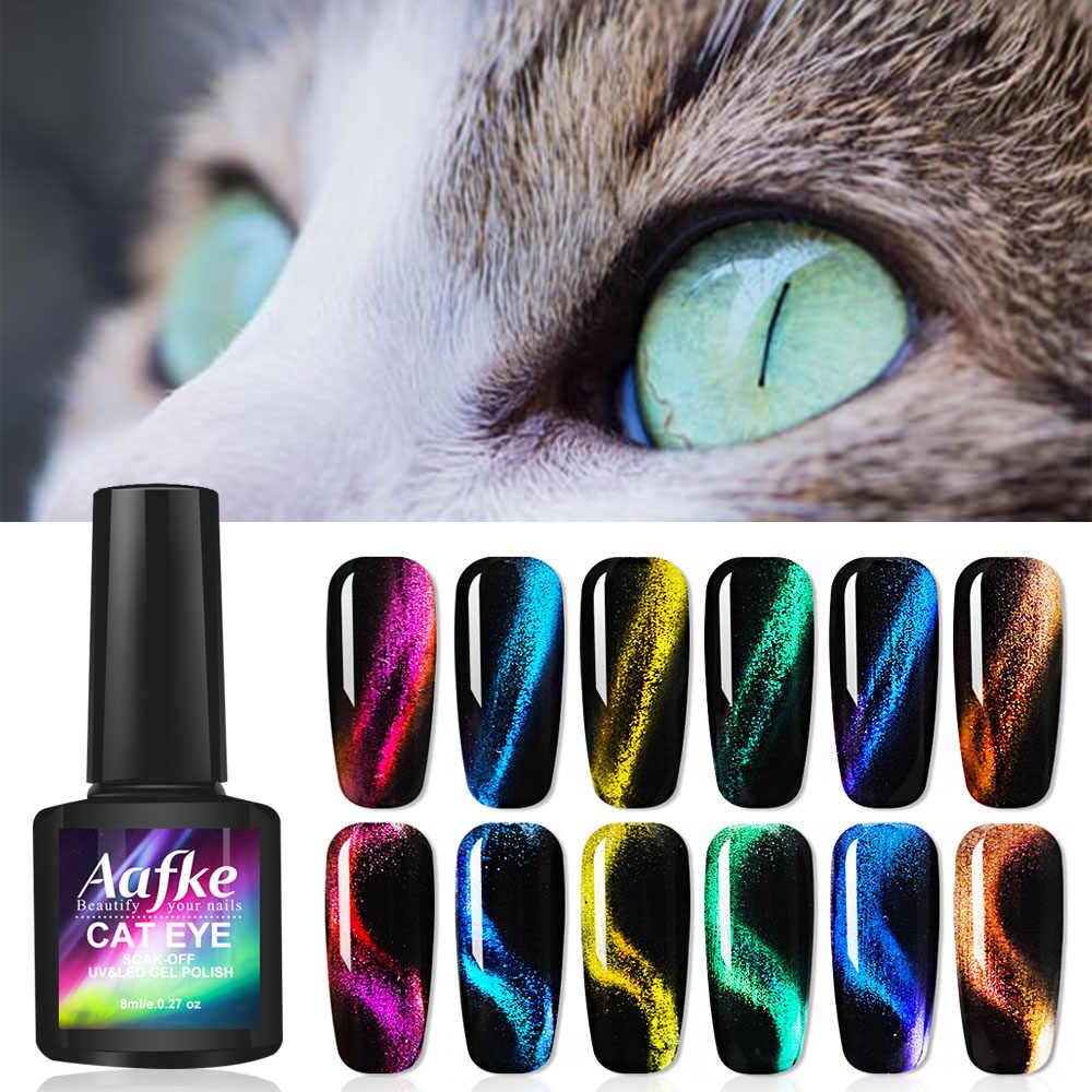 3d olho de gato magia camaleão gel verniz unha arte manicure semi permanentuv magnética gato olhos unha gel polonês zjj3042