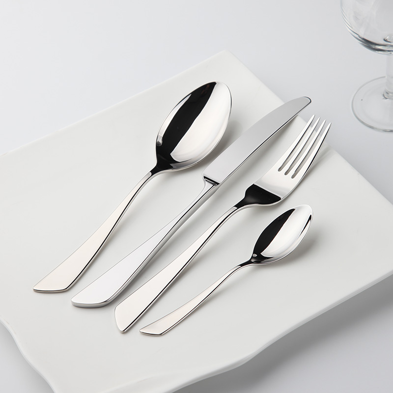 N 186 Simple Style Cutlery Set ⑦ 24pcs 24pcs Stainless Stee