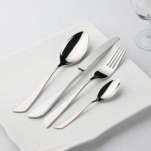 Einfache Stil Besteck 24 Stücke Edelstahl Stee Geschirr Restaurant Küche Hochzeit Speise Schöne Geschirr Set Messer Gabeln