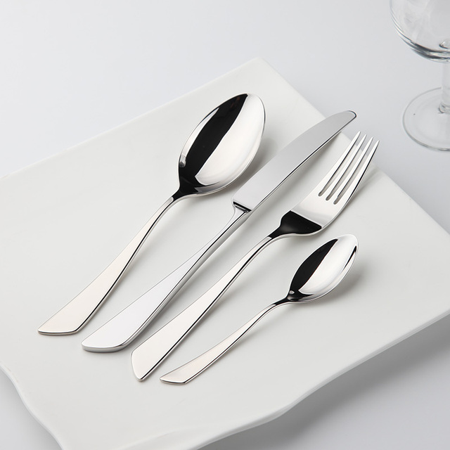 Stainless Cutlery 24Pcs Flatware Sets Stainless Steel Restaurant Kitchen Wedding Dinner Beautiful Dinnerware Tableware Knife