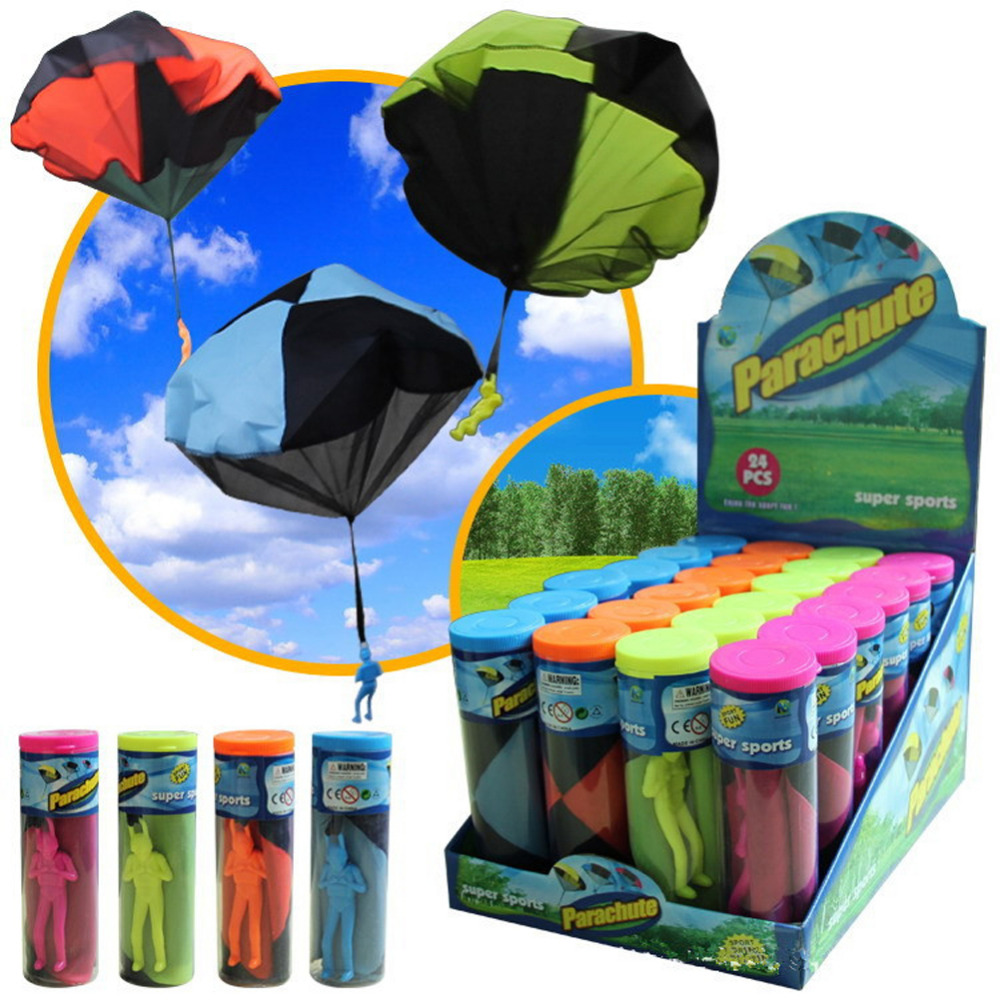 Hand Throwing kids mini play parachute toys soldier Outdoor Fun sports Play Game for Childrens Educational Toys Gifts For Kids