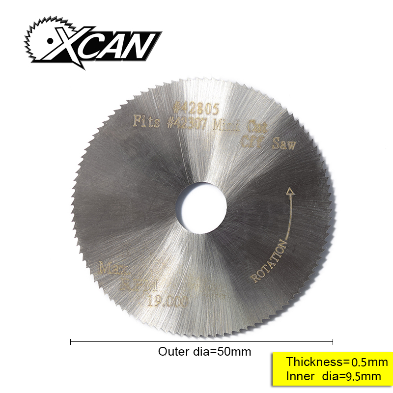 XCAN 1pc 50*9.5*0.5mm Circular Saw Blade For Woodworking Fits #42307 42805 Mini Cut Off Saw 100T Power Tools Accessories