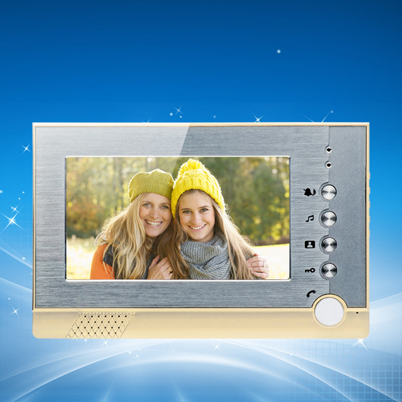 7 inch TFT-LCD screen Video Door Phone Indoor Machine Color Video Indoor Unit Monitor For Intercom System/Access Control System 7inch video door phone intercom system for 10apartment tft lcd screen 10 flat indoor monitor night vision cmos outdoor camera