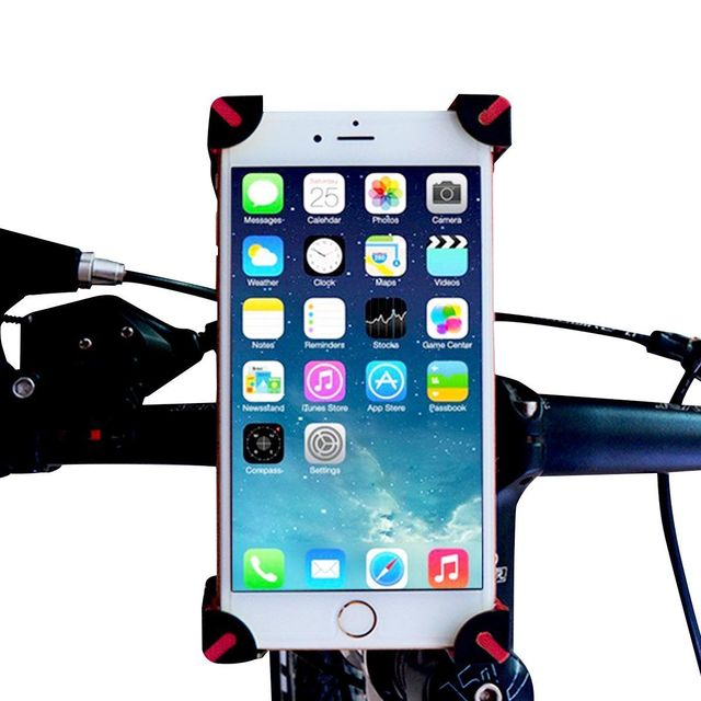 on sale 1c884 a4cdc Motorcycle Bicycle MTB Bike Handlebar Mount Holder For iPhone 7 7 Plus For  Samsung For Smart Phone-in Mobile Phone Holders & Stands from Cellphones &  ...