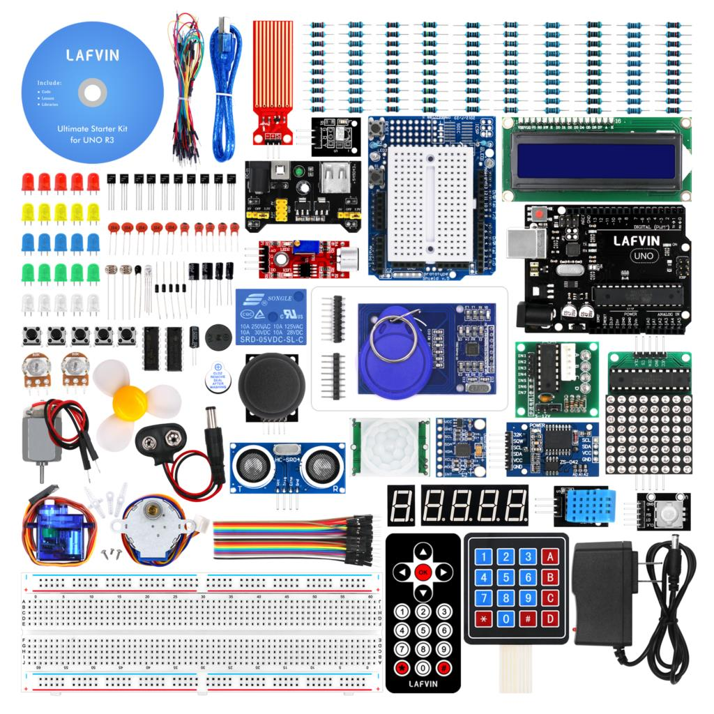 LAFVIN UNO Ultimate Starter kit for Arduino UNO R3 with Tutorial-in Demo Board from Computer & Office    1