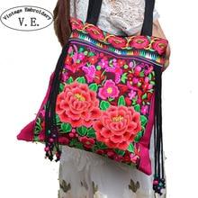 2016 neue nationalen trend bestickte taschen handgemachte blume stickerei ethnische clothshoulder tasche handtaschen