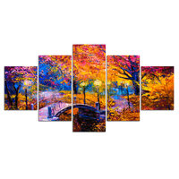 5d diy diamond painting home decorative diamond embroidery 5pcs Abstract Pictures Bridge Scenery for home decoration H301
