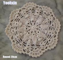 HOT Round cotton crochet table place mat cloth lace placemat Cup mug coffee tea coaster drink doily Christmas dining pad kitchen modern round lace cotton table place mat crochet coffee placemat pad christmas drink coaster cup mug tea dining doily kitchen