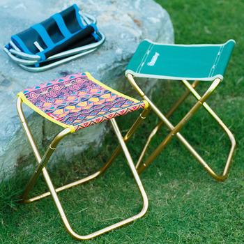 Na zewnątrz składany stołek 7075 aluminium połowów krzesło przenośne podróży plaża krzesło Mazar data data powrotu (składany stołek tanie i dobre opinie Sandy Rose