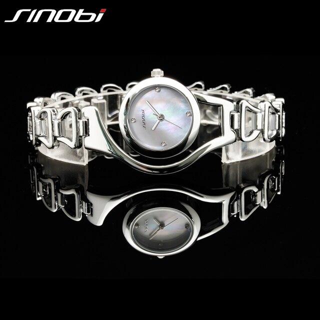 Rose Gold/ Silver Bracelet Quartz Stainless steel Women Wrist Watch 4