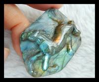 New Design semiprecious stones Carved Animal Horse Labradorite Cabochon 34*43*9mm 19.17g fashion Jewelry Gift Accessory