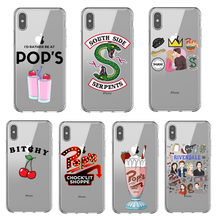 American TV Riverdale Soft Silicone Phone Case for iPhone X 6 7 8 plus 5 5s se 6s Southside Serpents Cover For iPhone XS MAX XR(China)