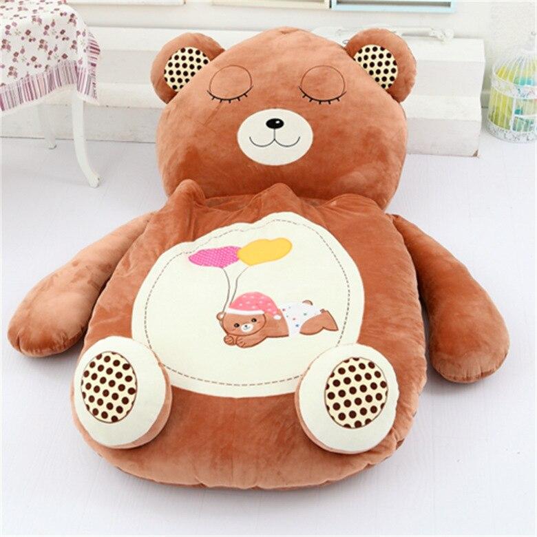 [Drôle] très mignon dessin animé sac de couchage doux animal chat grenouille singe ours lit tapis Tatami canapé tapis pouf en peluche jouet enfants cadeau