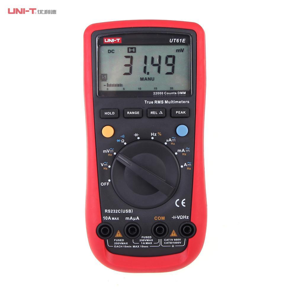 Modern LCD Display Digital Multimeters Electrical Handheld Tester Multimetro Ammeter Multitester UNI-T UT61E цены