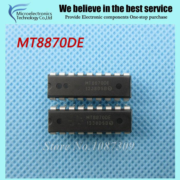 10pcs MT8870DE MT8870 MT8870D DIP-18 Telecom Line Management ICs Pb Free DTMF new original