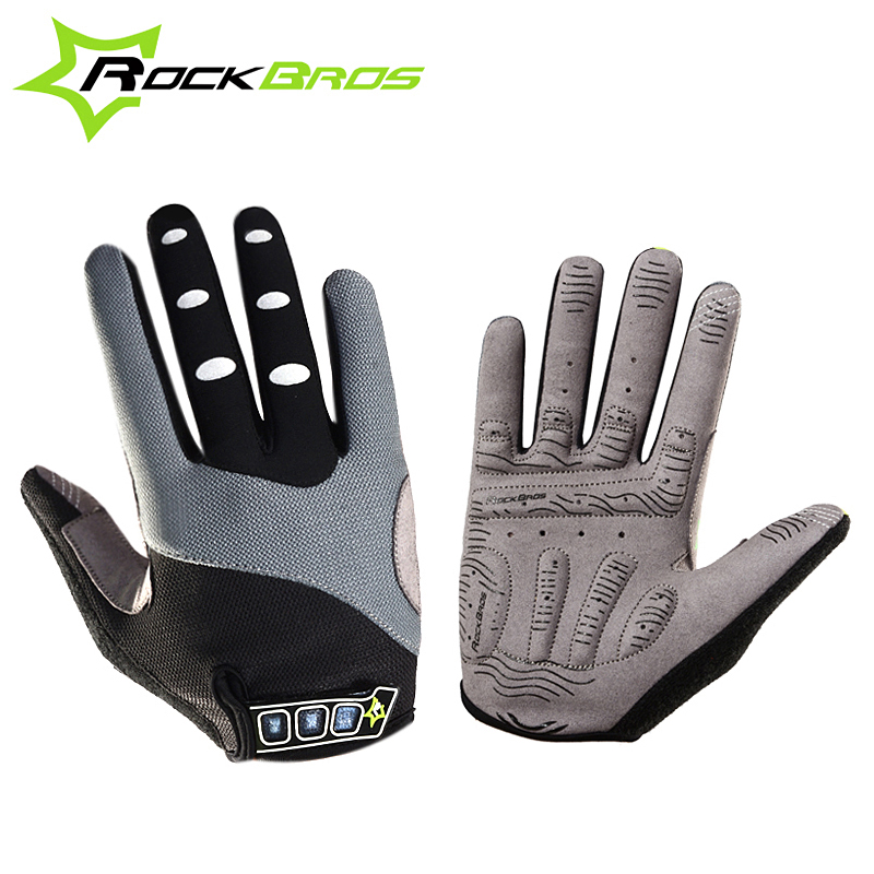 <font><b>RockBros</b></font> Winter Radfahren Handschuhe 5 Farbe Touchscreen Fleece Thermische Voll Finger Mountain Road Fahrrad Fahrrad Handschuhe Guantes Ciclismo image