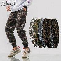 LOMAIYI New Mens Camouflage Joggers Pants Men White Camo Cargo Pants Men's Cargo Trousers 2019 Spring Harem Pants Hip Hop BM306