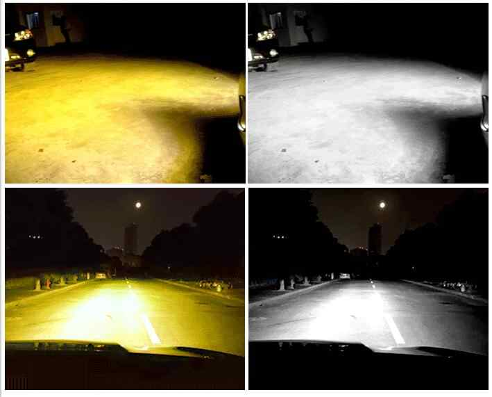 PAMPSEE Super bright Auto H7 H11 LED Car Headlight 9006 H1 H3 9005 880 881 H27 H4 LED Dual Color Headlight Kit 3000K 6000K #CS