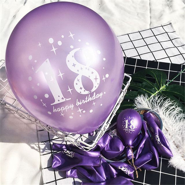 18th Birthday Party Supplies Wedding Anniversary Decoration Happy Balloons Black Pink Globos Sizeapprox12 Inch
