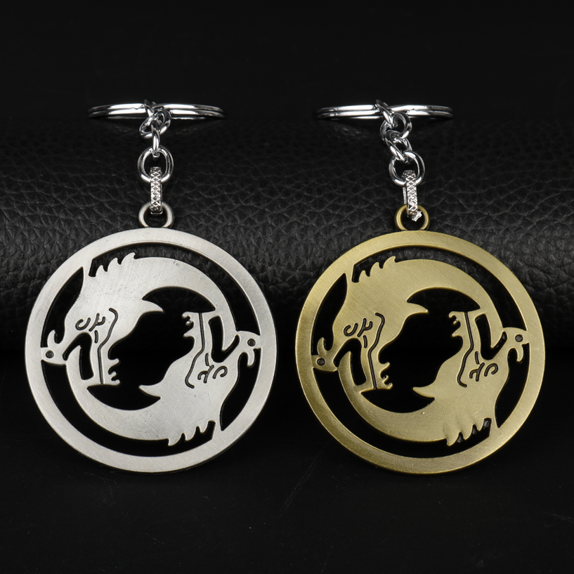 dongsheng Wholesale Vintage Over watch Keychains Anime Key Cover Key Holder Hanzo Keyring Jewelry for Wome Men Keychain-50