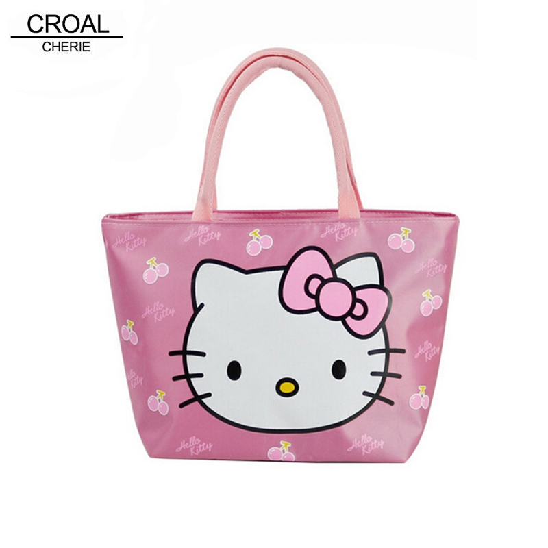 13*20*23cm Waterproof Printing Baby Diaper Bags Hello Kitty Baby Nappy Bags For Mom Multifunctional Food Lunch Mama Stroller Bag