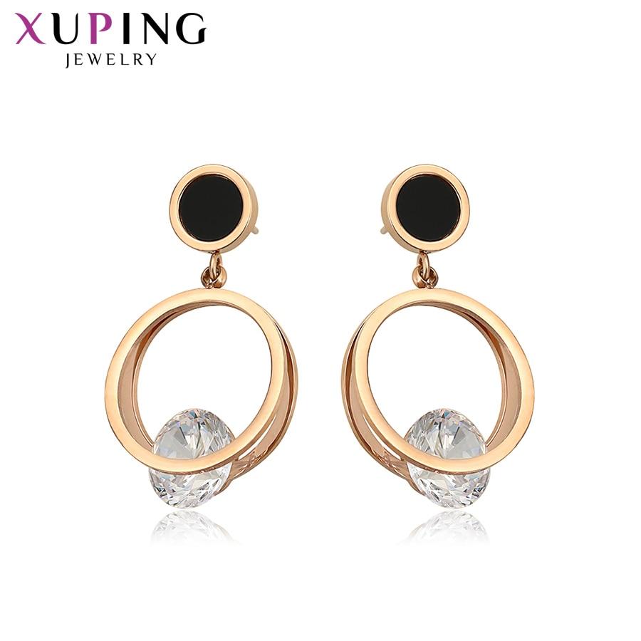 Xuping mode boucles d'oreilles caractéristique tempérament Sexy dames couleur or Rose plaqué pour les femmes famille cadeau S137.3-98416